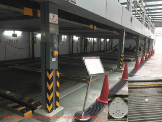 The Wireless Ultrasonic detetor parking guidance system for one of the largest mechanical parking ev