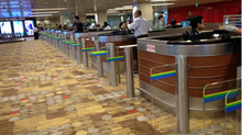 How to solve the problem of making an extra width lane turnstiles swing gates without compromise to