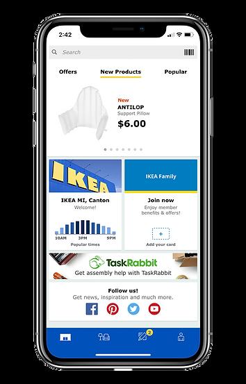 original app design home screen