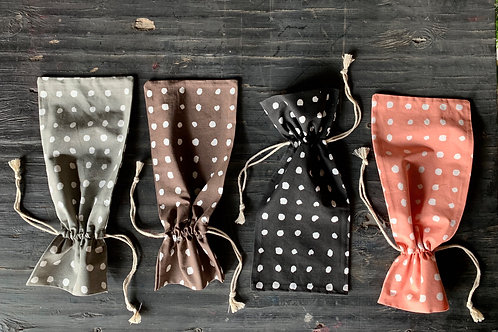 polka dot wine bag
