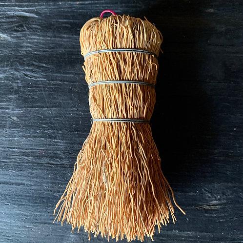 natural straw whisk brush