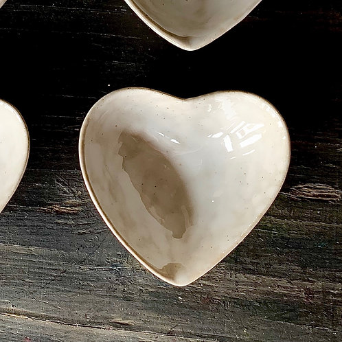 pottery heart dish