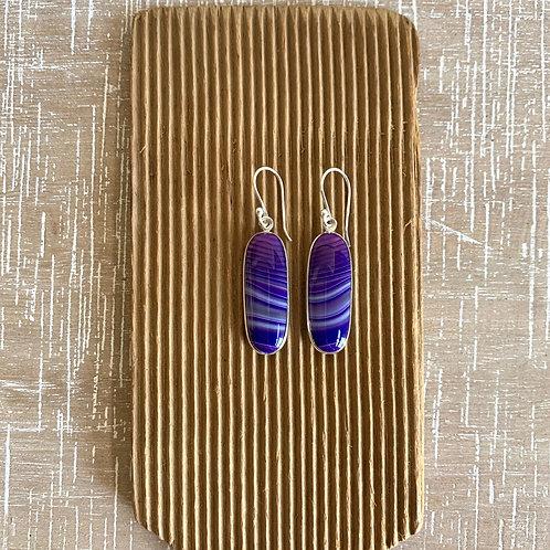 earrings - dyed agate