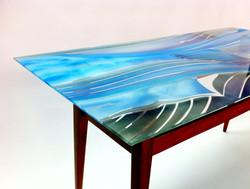 שולחן רטרו זכוכית 2