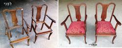 זוג כיסאות עתיקים  חידוש פוליטורה