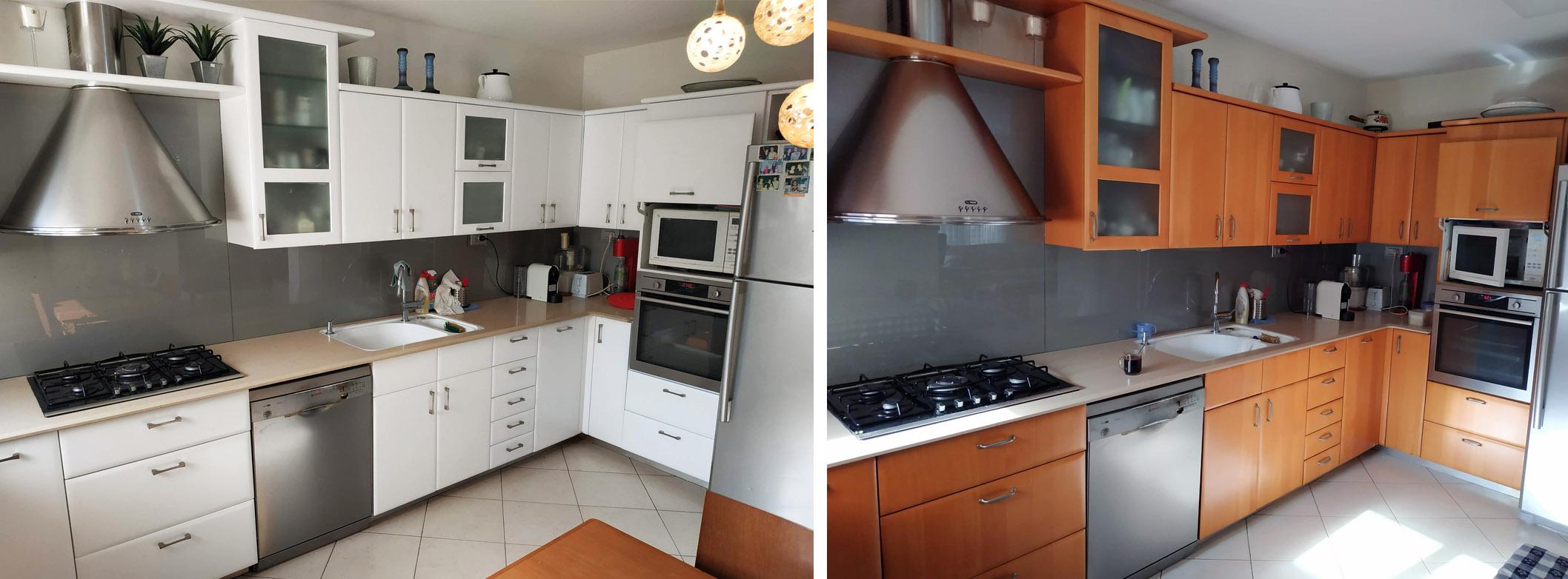 מעצבע חידוש מטבח בלהה לפני ואחרי