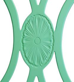 פרט מכיסא ירוק מרופד - מעצבע
