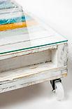 שולחן סלוני מעץ ממוחזר - מעצבע