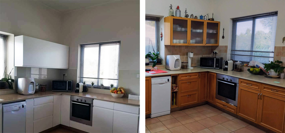 מעצבע - חידוש מטבח בגן שורק 1 לפני ואחרי