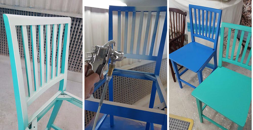 מעצבע - צביעת כיסאות