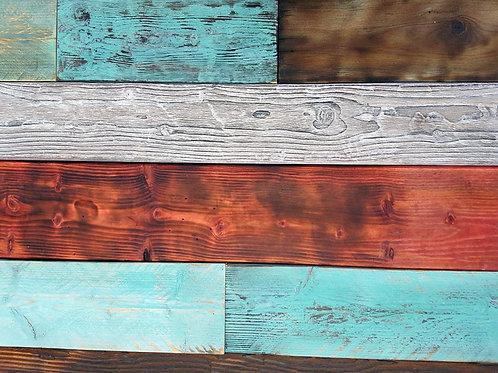 חיפויים לקירות מעץ ממוחזר