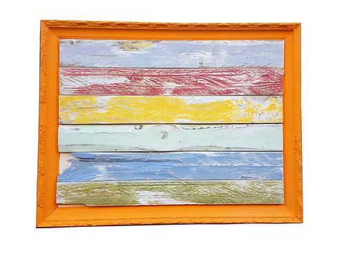שלט וינטג' צבעוני מעץ ממוחזר