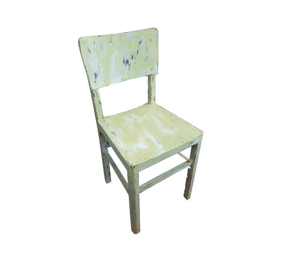 כיסא וינטג' ירוק 1 - מעצבע