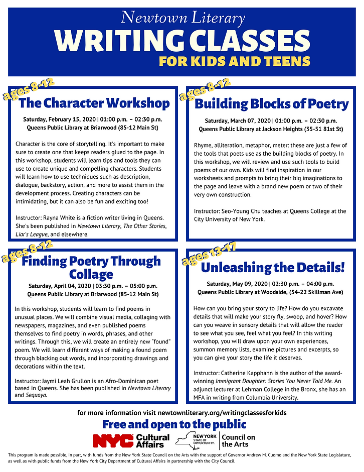 Kids and teens flyer Spring 2020 correct