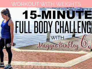 New Workouts: with weights!