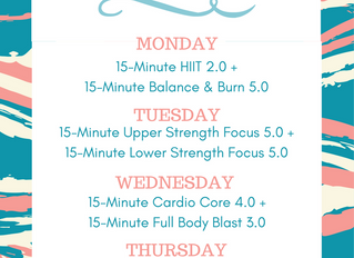 Wedding Week Workout Plan