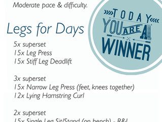 Leg Day, All Day (Workout of the Week)