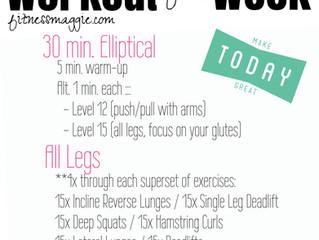 Workout of the Week: Elliptical + Leg Day