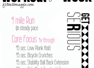 Workout of the Week: Run + Core