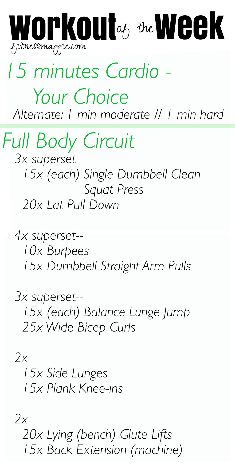 full body workout of the week
