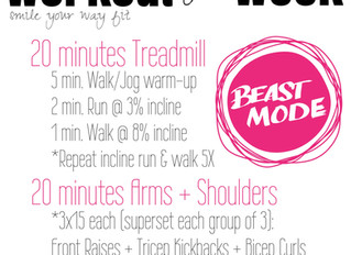 Workout of the Week: Treadmill + Upper Strength