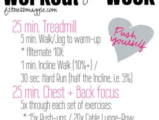Workout of the Week: Treadmill + Chest & Back