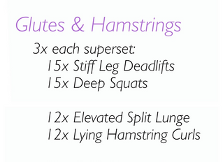 Glutes + Hamstrings (Workout of the Week!)