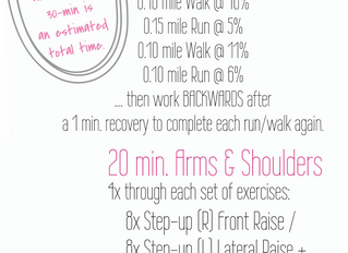Workout of the Week: Treadmill + Arms & Shoulders