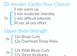 Upper Body + Cardio Workout [of the Week]