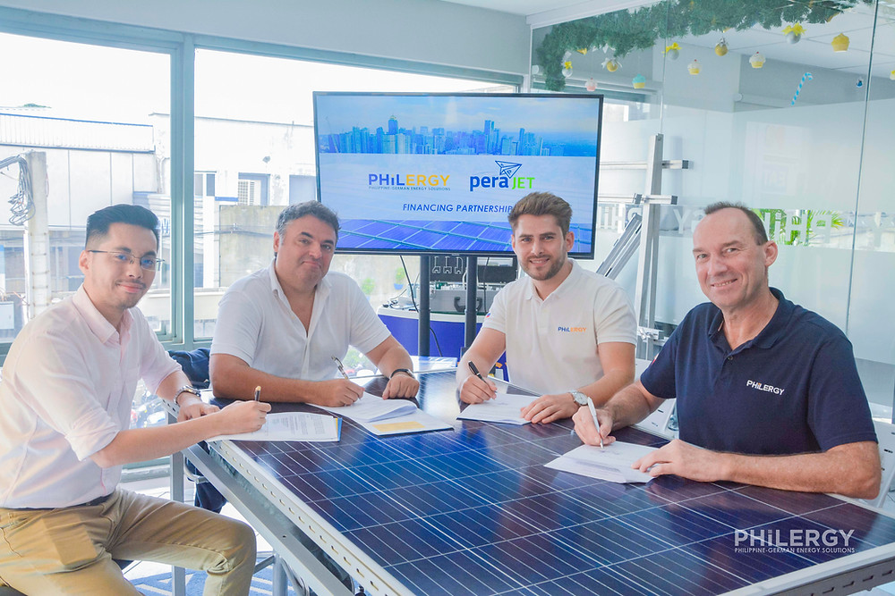 PHILERGY German Solar for homes and businesses  - Fast and Easy Financing Options from PeraJet - High quality installer for solar power systems and top rated panel packages for residential, commercial and industrial roofs in the Philippines