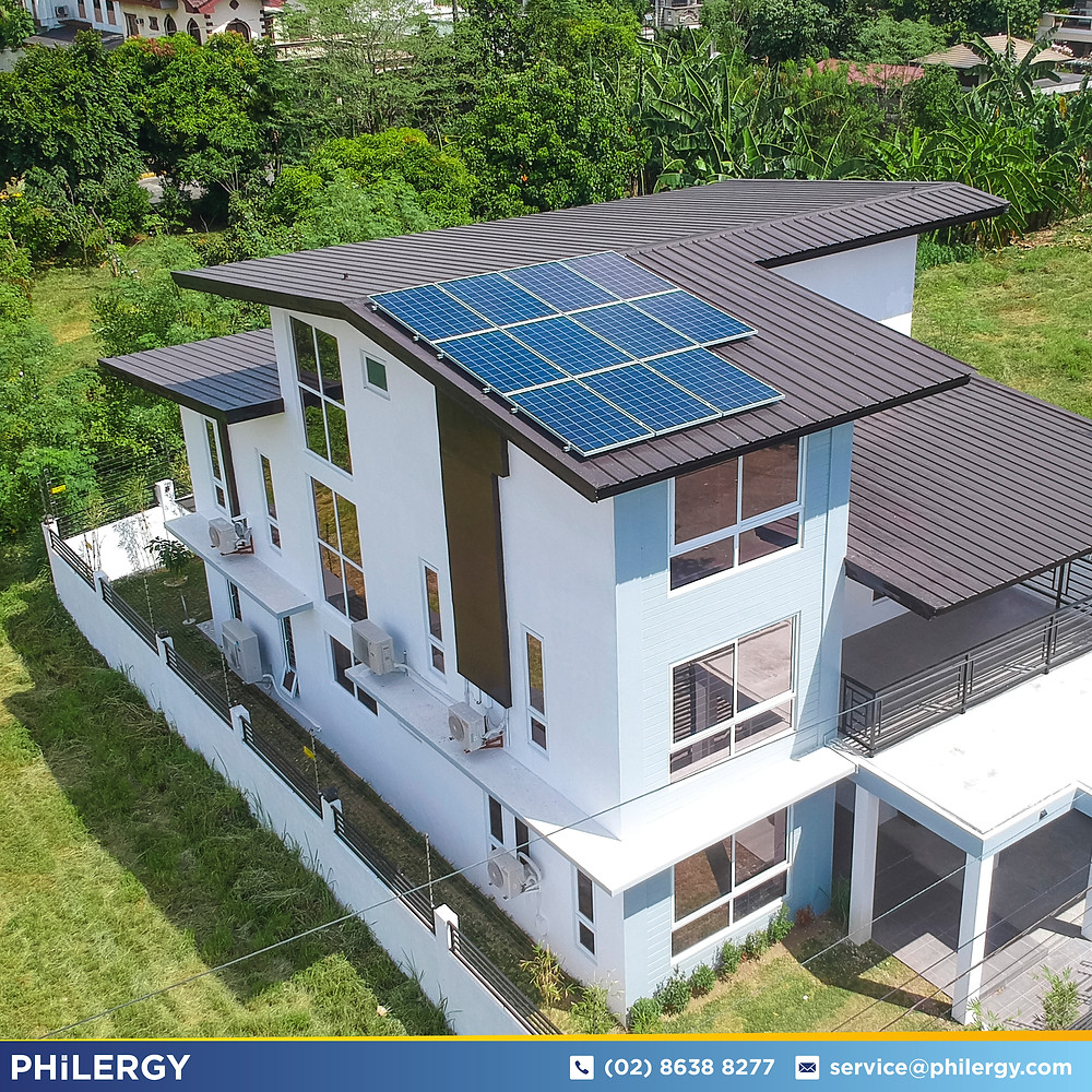 PHILERGY German Solar for homes and businesses  - 3kwp gridtied for Quezon City home - High quality installer for solar power systems and top rated panel packages for residential, commercial and industrial roofs in the Philippines