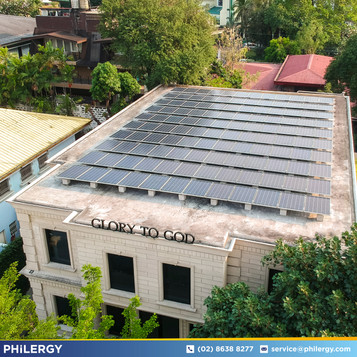 33 kWp grid-tied solar system for San Juan office building - PHILERGY German Solar