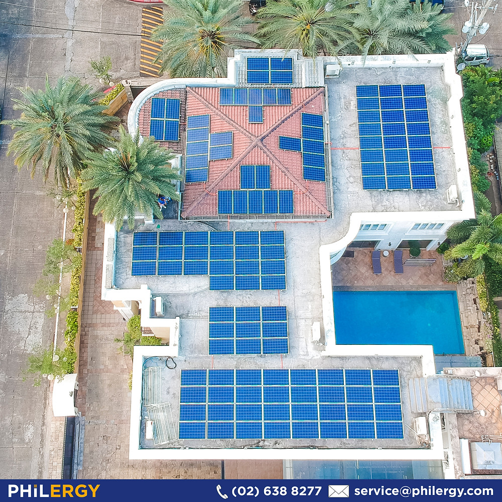 PHILERGY German Solar for homes and businesses  - Home with Concrete Roof in Mandaluyong - High quality installer for solar power systems and top rated panel packages for residential, commercial and industrial roofs in the Philippines