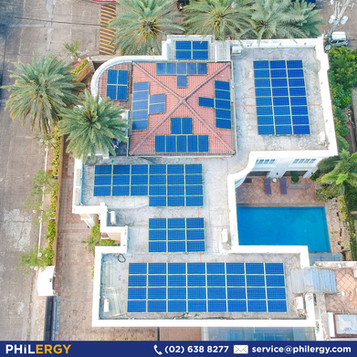 High Quality PHILERGY German Solar System for a Home with Concrete Roof Deck in Mandaluyong, Philipp