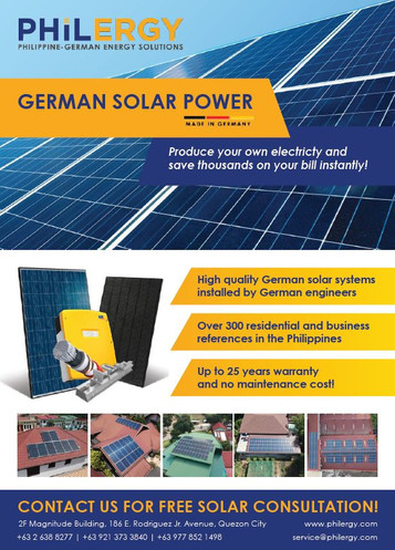 Solar Philippines - PHILERGY German Solar with 100% Satisfaction Rate 2018