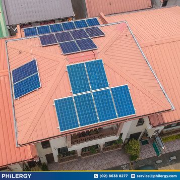 5.4 kWp grid-tied solar system in Rizal - Philippines best solar supplier PHILERGY German Solar