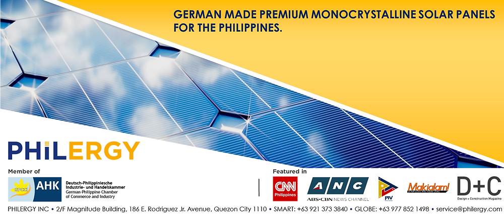 PHILERGY German Solar for homes and businesses  - Premium Monocrystallie Technology - High quality installer for solar power systems and top rated panel packages for residential, commercial and industrial roofs in the Philippines