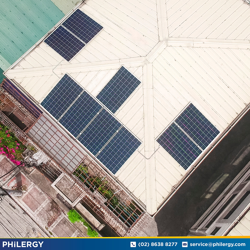 PHILERGY German Solar for homes and businesses  - 2.75 kwp gridtied for Quezon City home - High quality installer for solar power systems and top rated panel packages for residential, commercial and industrial roofs in the Philippines