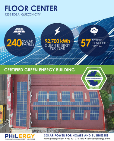 Floor Center goes green with PHILERGY's German Solar Power
