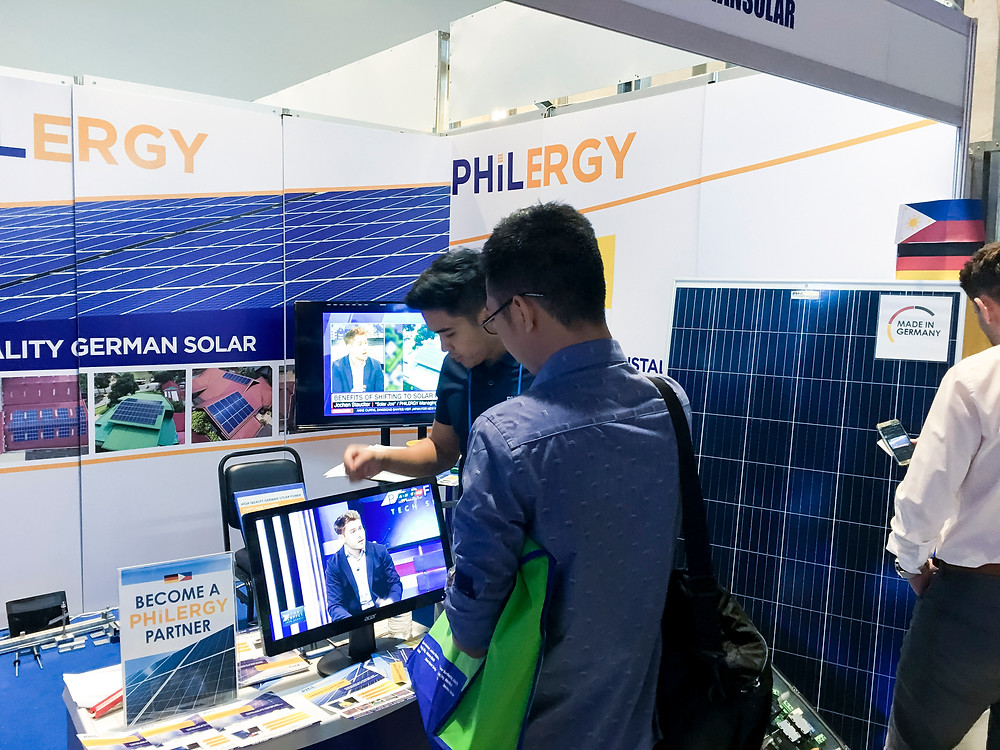 PHILERGY German Solar for homes and businesses  - United Architects of the Philippines CONEX 2018 SMX - High quality installer for solar power systems and top rated panel packages for residential, commercial and industrial roofs in the Philippines