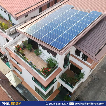 10 kWp grid-tied solar system for a townhouse in Quezon City - PHILERGY German Solar