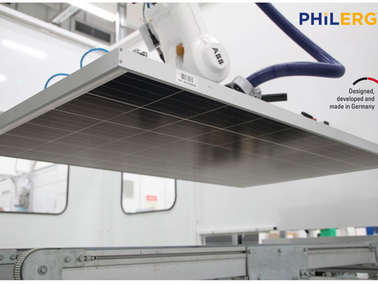 PHILERGY German Solar supplies newest solar panel technology made in Germany