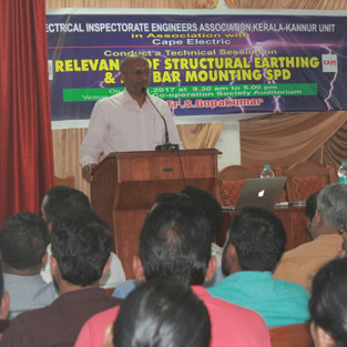 One day Seminar on Electrocution & Fault Protection in Low Voltage Systems for Kerala state electrical inspectorate, Kannur