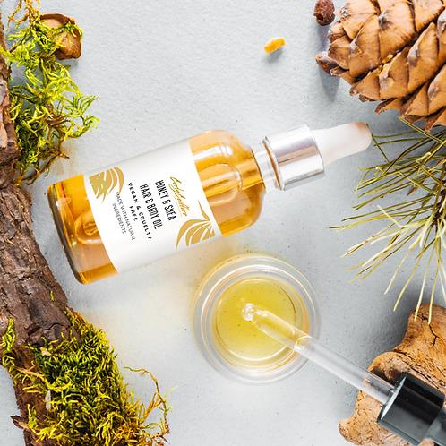 2 Oz Shea Honey Hair & Skin Oil