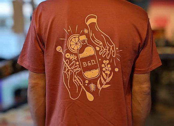 B&D Mixology Tee - Coral