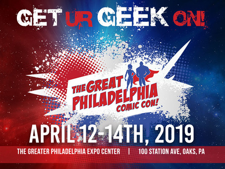 We are coming to the Greater Philadelphia Comic Con!