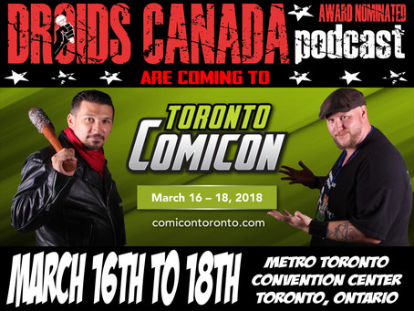 We are at Toronto Comic Con this weekend!