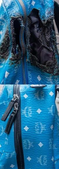 MCM Backpack Restoration Close-up