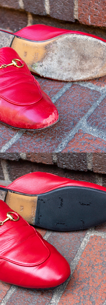 Gucci Princetown Slippers: Red Paint Touch Up