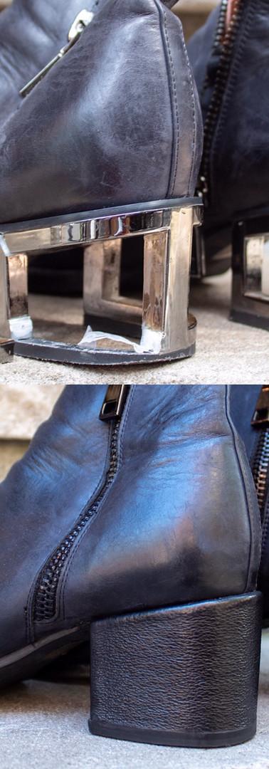 New Custom Heel Restoration on Booties